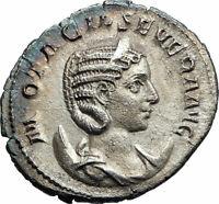 OTACILIA SEVERA Philip I Wife 244AD Ancient SILVER Roman Coin Concordia i76232