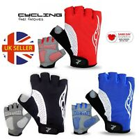 Cycling Gloves Men Bike Half Finger Gel Padded Fingerless Gloves Ammara Palm