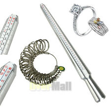 Quality Ring Sizer Mandrel Finger Sizing Stick Size 1-13 Metal Finger Gauge New