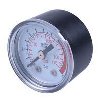 SODIAL(R) 0-12BAR 0-170PSI 10mm Filetage pompe a air gaz manometre Compress L6R3