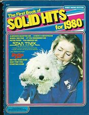 Solid Hits songbook 1980 piano Star Trek theme Starting Over Peter Piper