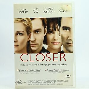 Closer Julia Roberts Jude Law Clive Owen DVD Good Condition Free Tracked Post