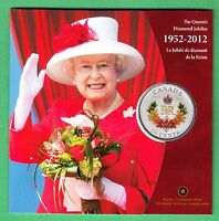 1952 - 2012 The Queen's Diamond Jubilee Commemorative Canada 50 Cent Coin - RCM