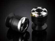 8mm Carbon fiber Swingarm Sliders Spools For Honda RC51, VTR1000 01-2007 Silver
