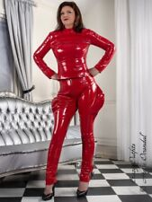 Lackhose Hose Rot Zipper Breeches Lack Vinyl Maßanfertigung