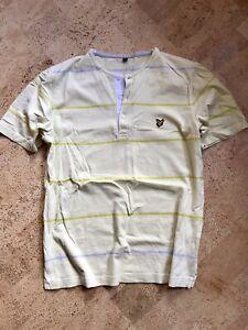Lyle & Scott Shirt M rar Selten Top Zustand Gelb