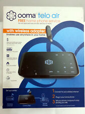 Ooma TELO AIR FREE HOME PHONE SERVICE VoIP DEVICE WITH WIRELESS ADAPTER INCLUDED