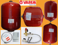 Varem Italy Central Heating Expansion Vessel Red 8 12 18 25 35 50 Litres + KIT