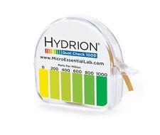 HYDRION QC-1001  Paper 0-1000 PPM -QUAT CHECK Test