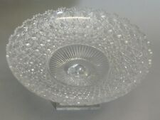 "Meticulously Hand-Cut 14"" Eastern European Crystal Compote Bowl    Age Unknown"