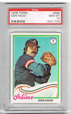 1978 TOPPS #398 DON HOOD *PSA 10* *CLEVELAND INDIANS PITCHER*
