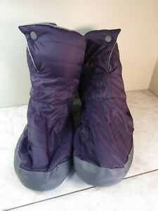 REI Cabiniste Purple Fleece Lined Down Camping Slippers Booties Boots Women's L