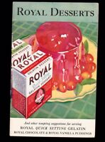 Royal Desserts 1932 Recipe Booklet 32 pages Gelatin & Pudding