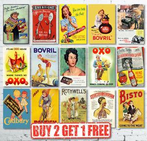 Vintage Retro Classic British Advertisement Advertising Prints Posters
