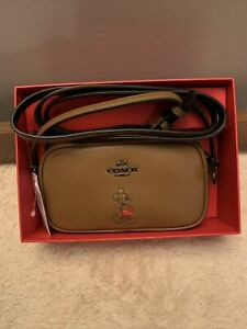 NWT - COACH x Disney Mickey Mouse Saddle Brown Crossbody Bag Pouch w/ Box
