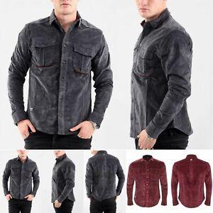Men Jacksouth Long Sleeve Shirt Corduroy Cotton Branded Shirts Top Sizes S-2XL
