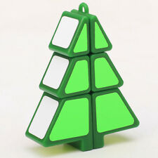 Green Full Function 123 1x2x3 Mini Pine Magic Christmas Tree Cube Twist Puzzle