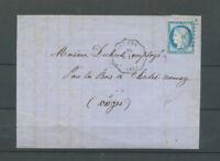 1874 Lettre N°60 Obl GC convoyeur-station R.EP Arches VOSGES(82) X4567