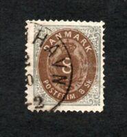 Denmark - Sc# 19 Used / 8s   -   Lot 1120018