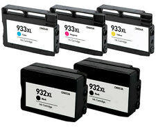 5X HP932XL HP933XL compatible ink w/chip FOR hp officejet 6600 6700 premium 6100