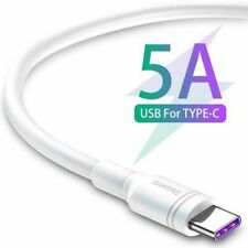 Baseus Quick Charge 5A USB to USB Type-C Double Loop Fast Charging Cable 0.5m