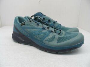 Salomon Women's Sense Ride GTX Hiking Trail Running Shoes Teal Size 10.5M