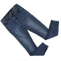 J Crew Womens Lookout High Rise Skinny Jeans Sz 26 (26 x 27) Dark Wash Denim