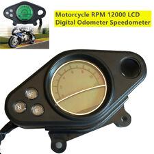 DC 12V Motorcycle 12000RPM LCD Digital Odometer Speedometer Tachometer w/Sensor