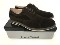 FRANCO VANUCCI Mens Brown Lace Oxford Style Plain Toe Dexter Shoes Sz US 11 NEW
