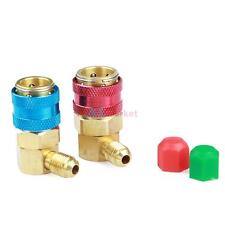 """Adjustable AC R134a Quick Coupler Connector Adapter High&Low 1/4"""" SAE HVAC"""