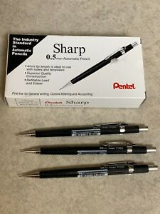 NEW 3 EACHES PENTEL SHARP .5 MM AUTOMATIC DRAFTING PENCILS P205A
