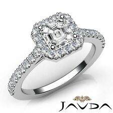 1.2ctw Circa Halo Asscher Diamond Engagement Ring GIA G-VVS2 White Gold Women