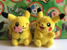 Pokemon Center Japan Pikachu Couple pair Set Plush Pokedoll 2012 stuffed figure