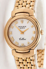 Estate $15,000 Rolex 18k Yellow Gold Ladies CELLINI Dress Watch & BOX & WTY WOW!