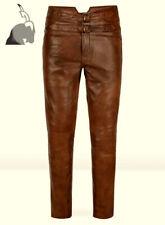 Mens Hot Genuine Leather Pants Nightclub Motorcycle Bluf Trousers