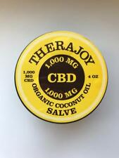 THERAJOY ORGANIC CBD SALVE COCONUT OIL BASED 4OZ