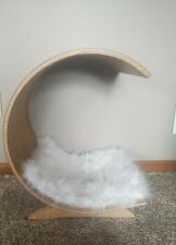 Luxury Covered Wood Pet cat dog Bed
