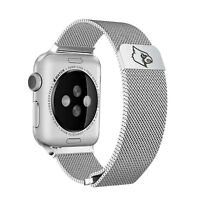 Louisville Cardinals Stainless Steel Mesh Band Compatible with Apple Watch