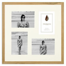 """17x17in Solid Oak Multi-aperture Photo Frame to fit 4x 7""""x5"""" photos"""