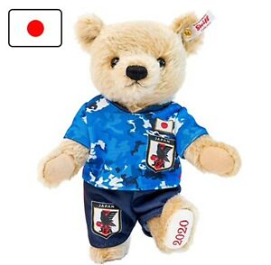 Steiff Japan National Football Team Official Teddy Bear Samurai Blue Soccer JFA