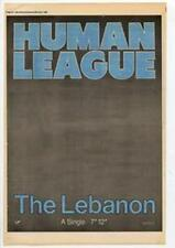 Human League The Lebanon Advert NME Cutting 1984