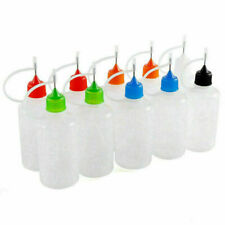 Plastic Needle Tip Glue Dropper Liquid Bottles Applicator Quilling Painting