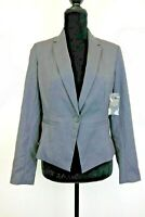 New Simply Styled Gray Single Button Women's Essential Blazer Size PL - SR8