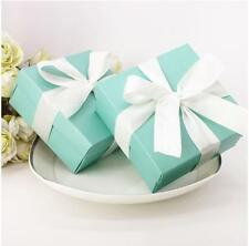 50pcs  Wedding favor Box Baby Shower Candy  Birthday Party Box for TIFFANY BLUE