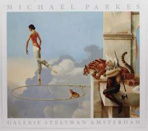 Vintage Michael Parkes Surrealist Dream Rosa Ballerina Exhibition Poster #S414