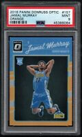 PSA 9 MINT 2016-17 Donruss Optic JAMAL MURRAY ORANGE PRIZM ROOKIE RC /199 #157