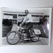 ✇ Original Photo Union Carbide Motocycle alkaline fuel cell propulsion MEGA RARE 1967