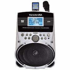"Karaoke USA Portable Karaoke Machine w/ 3.2"" Lyirc Display & 100 Song Selection"