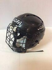 JOFA 395 HOCKEY  HELMET 395JR  sz 6 1/2-7 1/4 Black w/JOFA 386JR Mask Shield