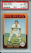 1975 Topps Baseball #223 Robin Yount Rookie Card RC PSA 8.5